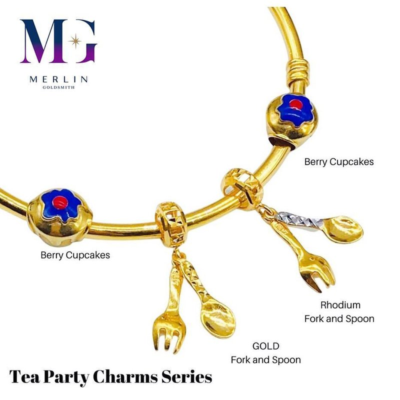 916 Gold Tea Party Charm Series