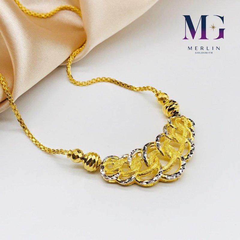 916 Gold Coco Necklace - Rhodium