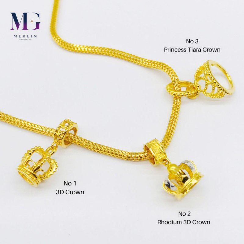 916 Gold Crown Charms / Pendant