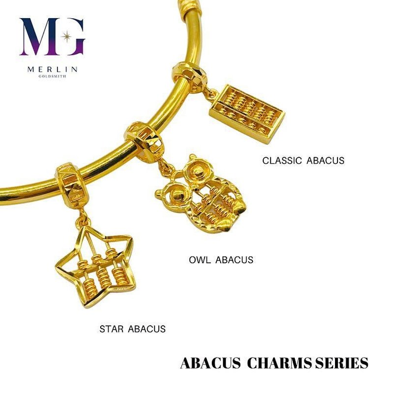916 Gold Abacus Series Charms