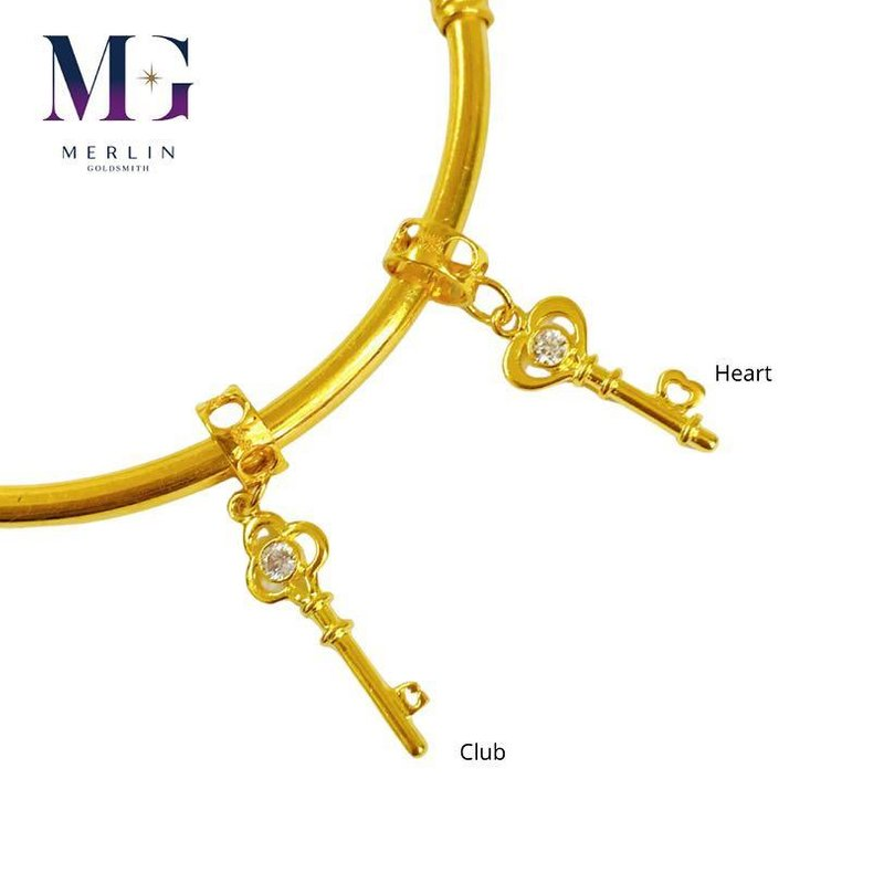 916 Gold Key To Your Heart Charms Series