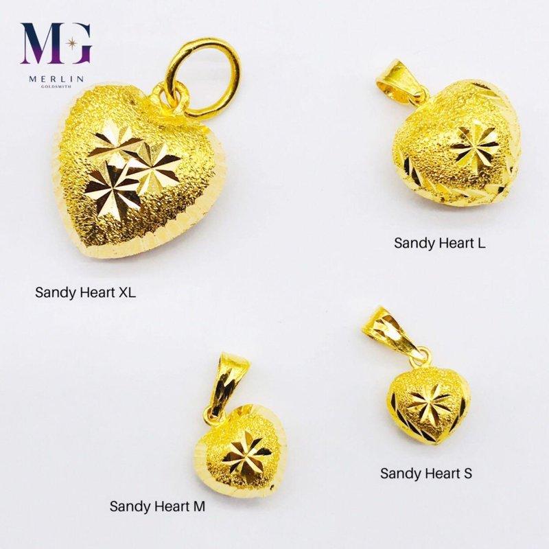 916 Gold Fancy Sandy Heart Pendant