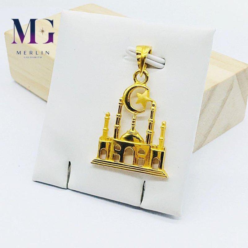 916 Gold 3D Islamic Mosque Pendant