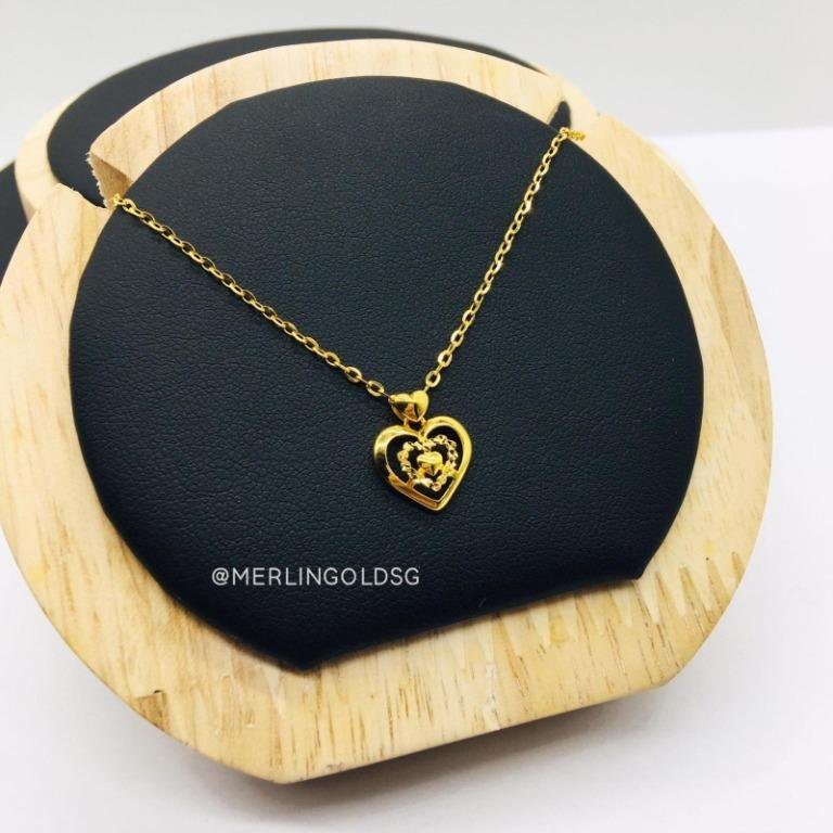 916 Gold Ashley Heart Necklace