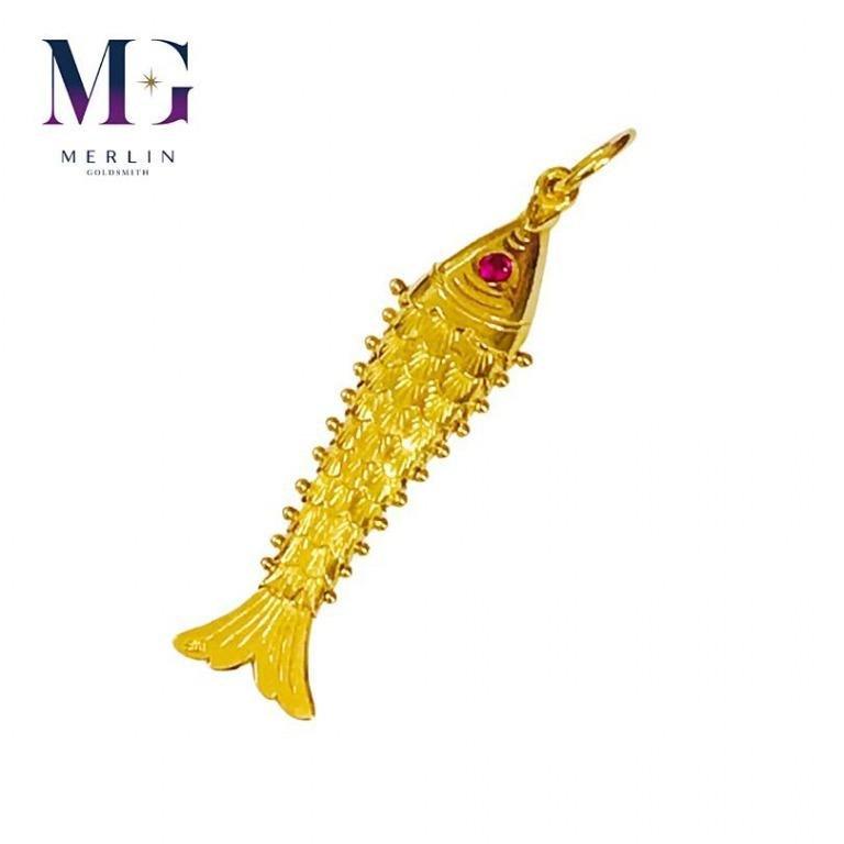 916 Gold Fish Pendant 6gm+