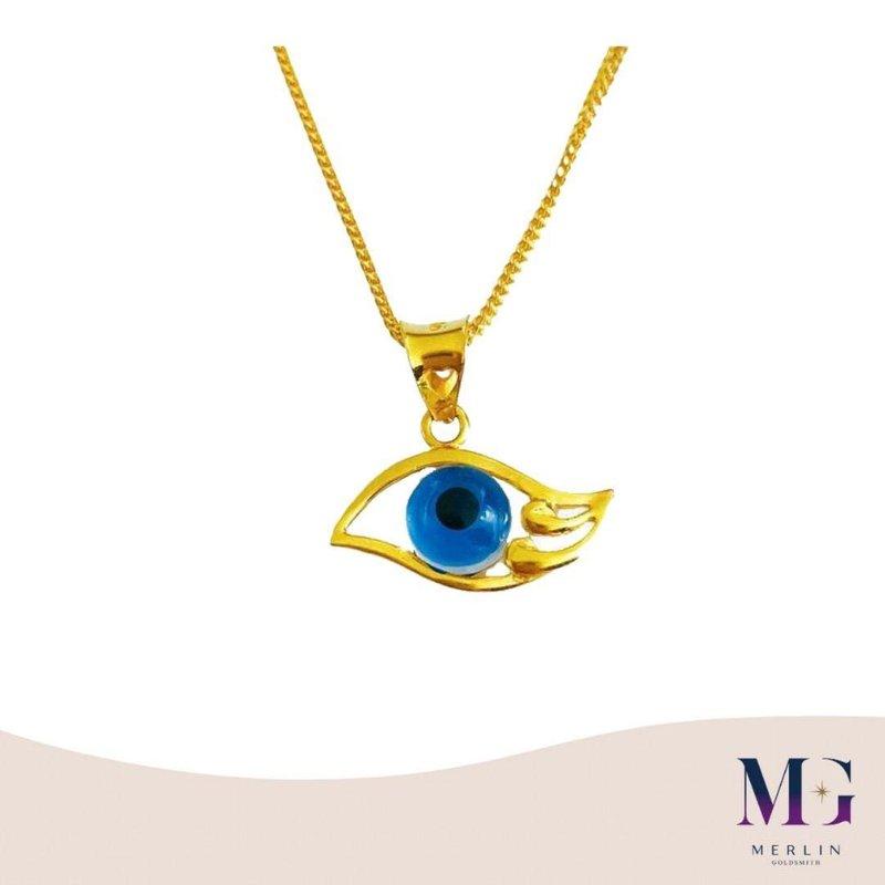 916 Gold Turkey Eye Pendant