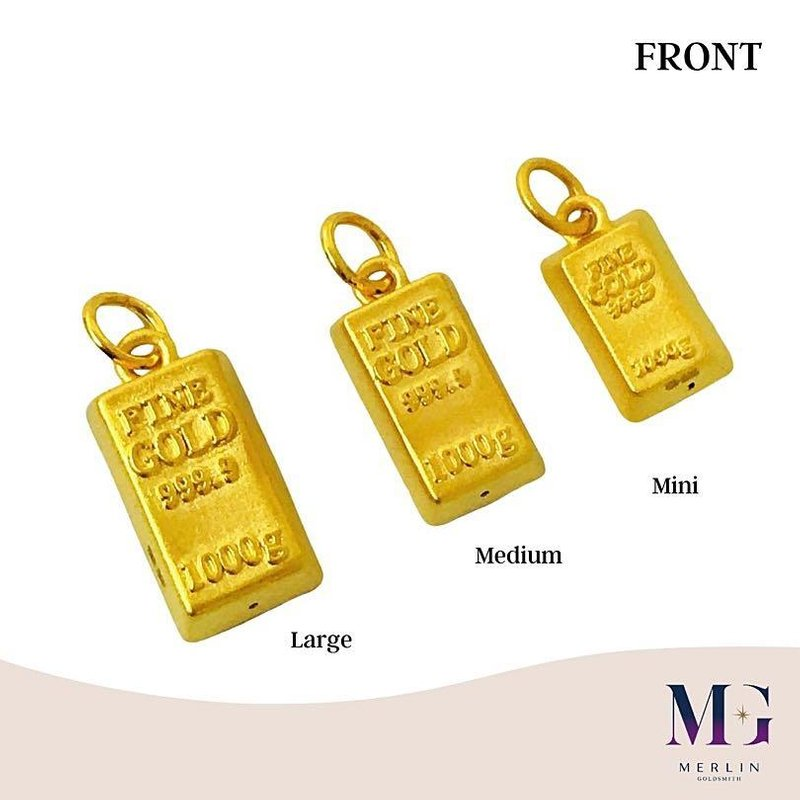 999 Pure Gold Bar Pendant / Charms