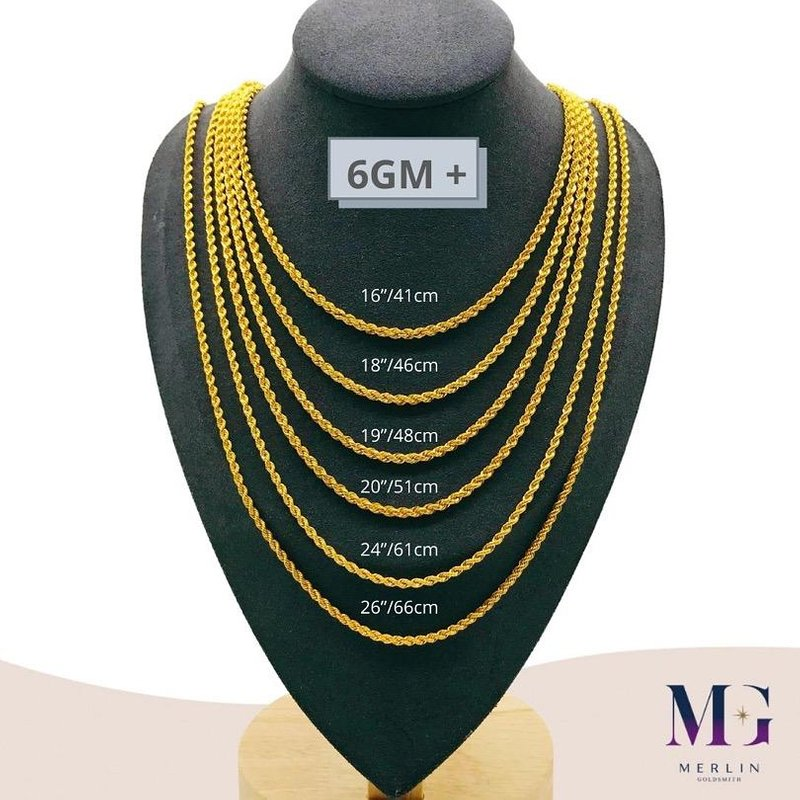 916 Gold Hollow Rope Chain (HRC 6GM+)
