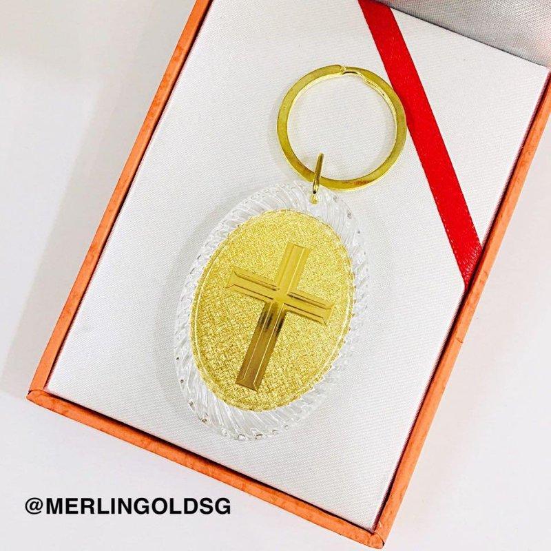999 (24K) Gold Plated JESUS Keychain