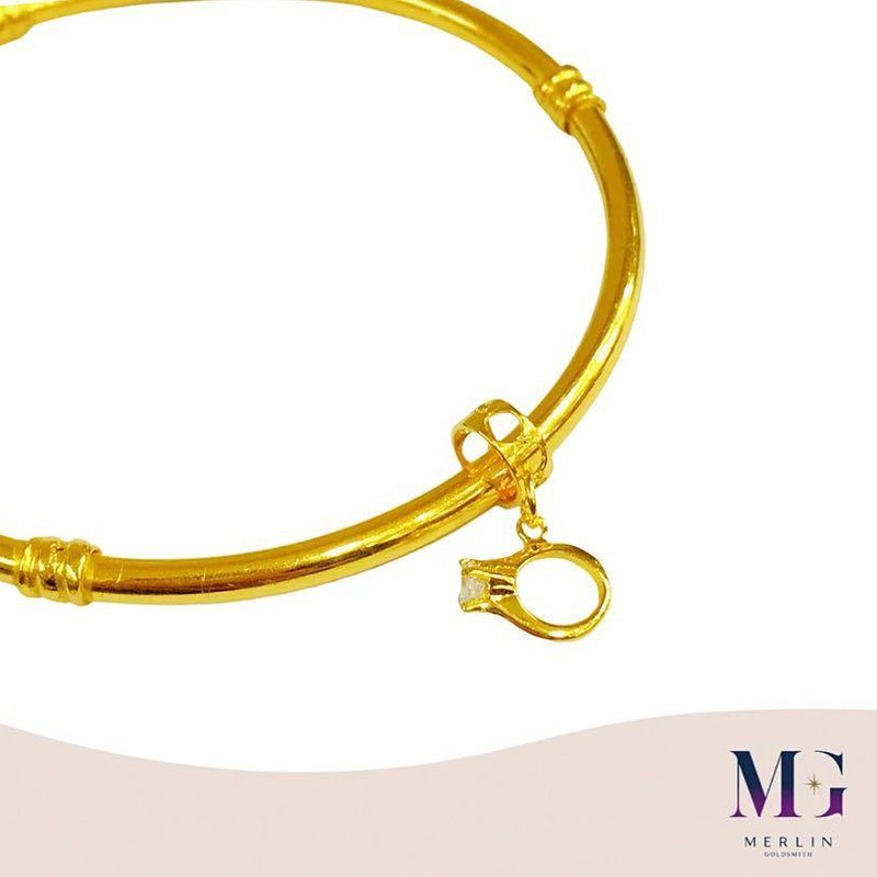 916 Gold Solitaire Ring Charm (Yes I Do)