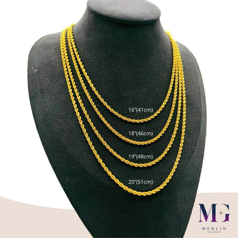 916 Gold Hollow Rope Chain (HRC 4GM+)