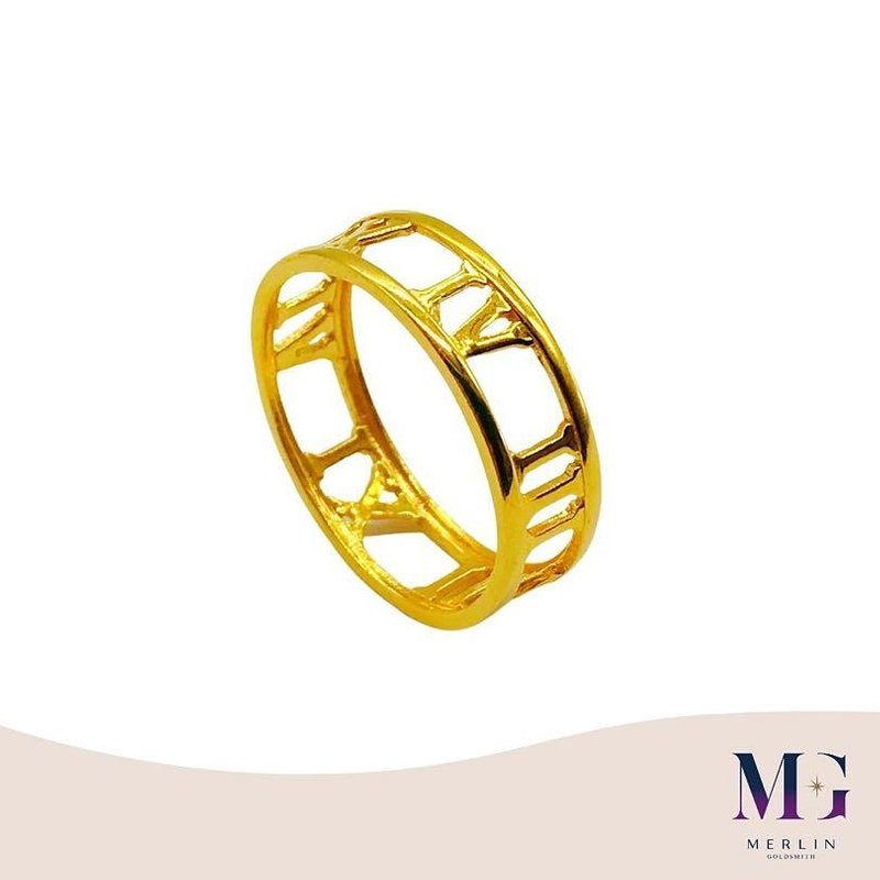 916 Gold Roman Numeral Ring