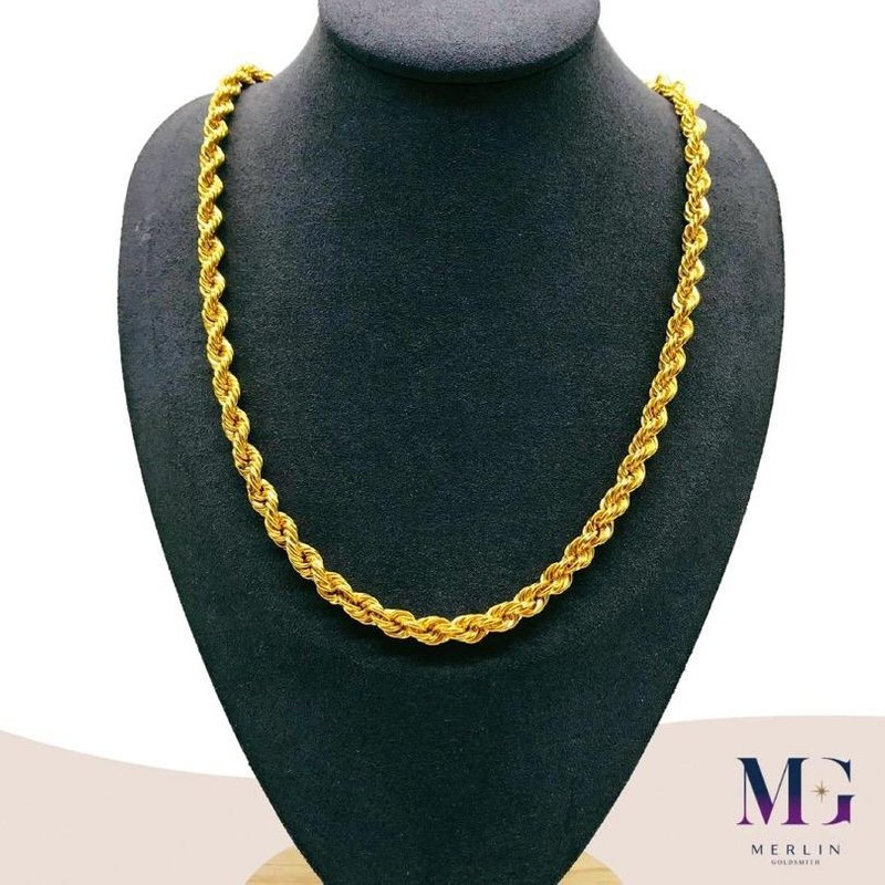 916 Gold Hollow Rope Chain (40GM+)