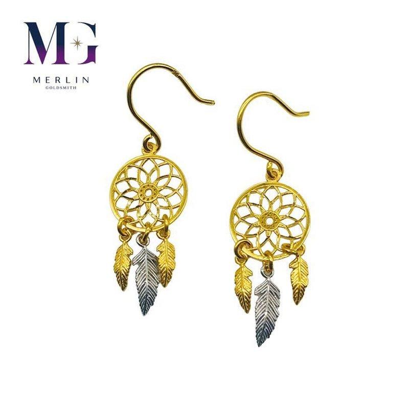 916 Gold Dreamcatcher Hook Earrings
