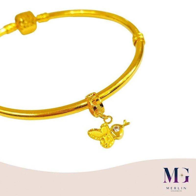 916 Gold Honey Bee Charm / Pendant
