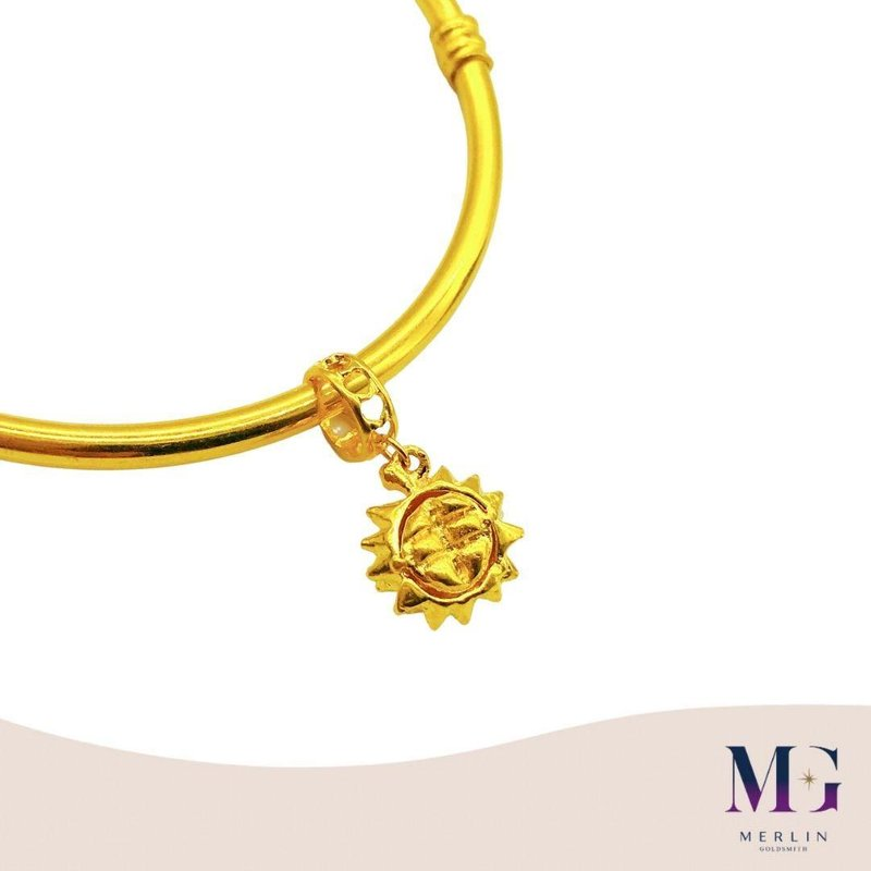 916 Gold Golden Musang King Charm / Pendant (Durian Lovers)