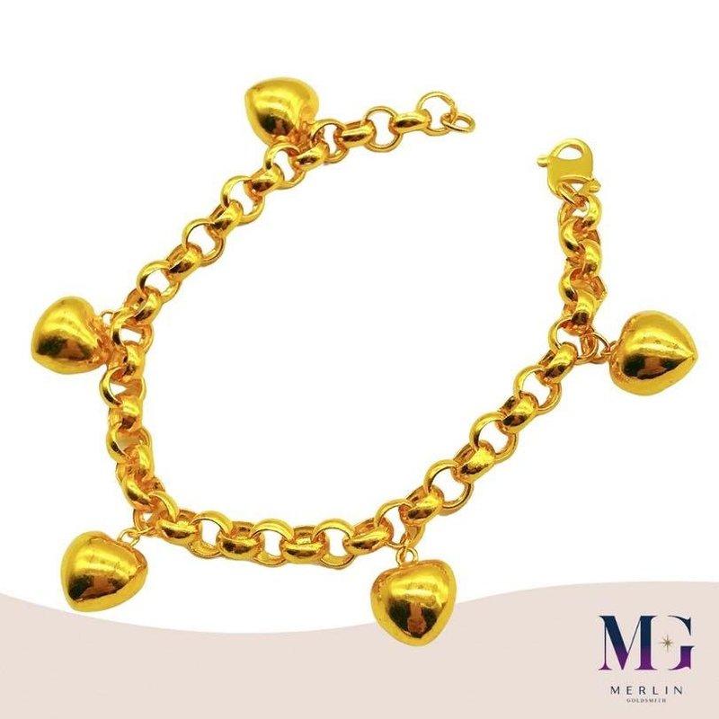 916 Gold SCARLETT HEART Bracelet