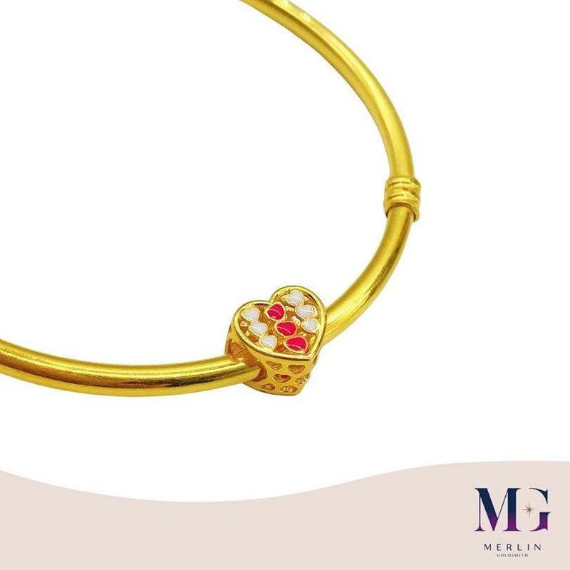 916 Gold Pastel Lovely Spacer / Charm