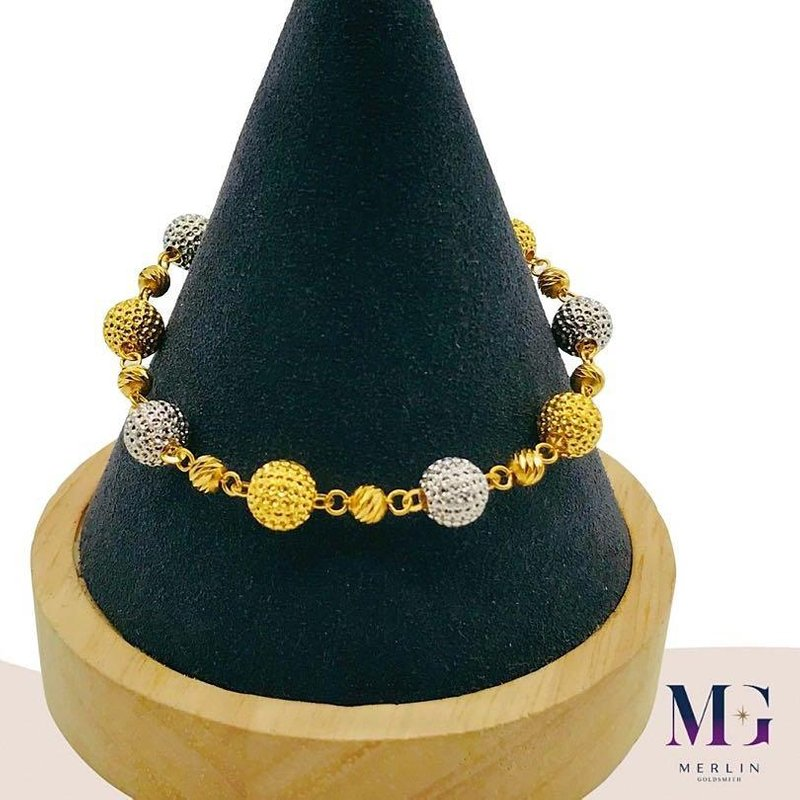 916 Gold Rhodium Fire Ball Bracelet