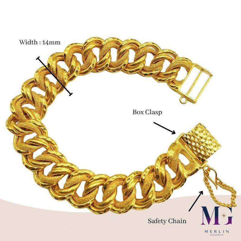 916 Gold COCO Bracelet (Width 14mm)