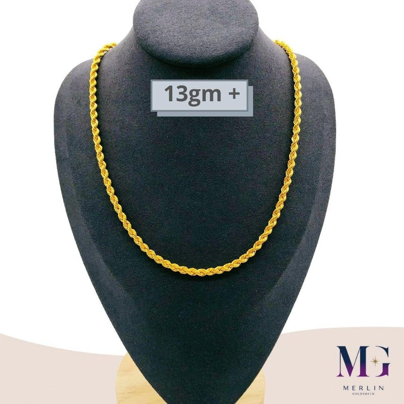 916 Gold Hollow Rope Chain (HRC 13GM+)