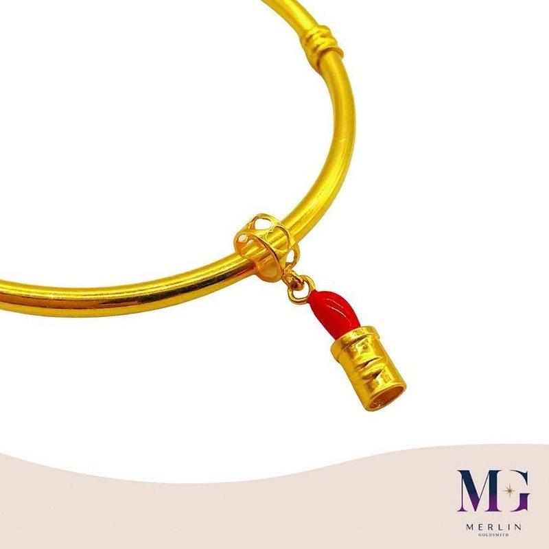 916 Gold Lipstick Charm / Pendant
