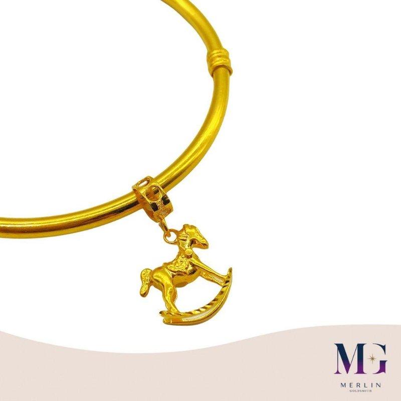 916 Gold Rocking Horse Charm / Pendant