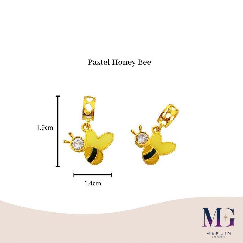 916 Gold Pastel Honey Bee Charm / Pendant