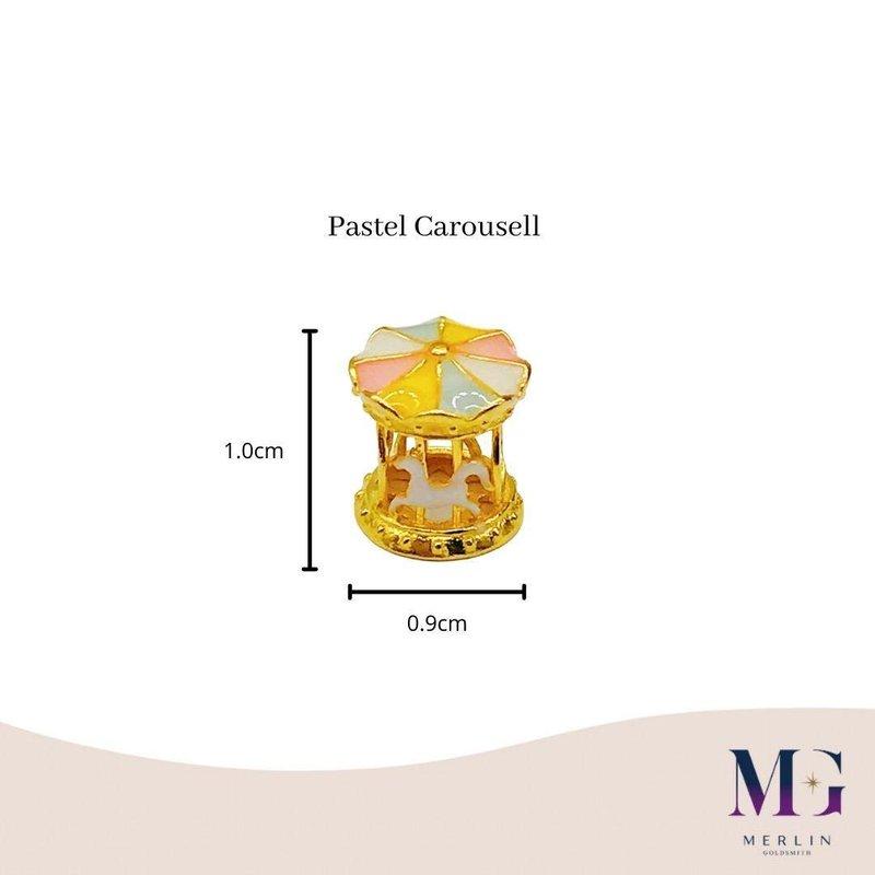 916 Gold Pastel Carousel Spacer / Pendant