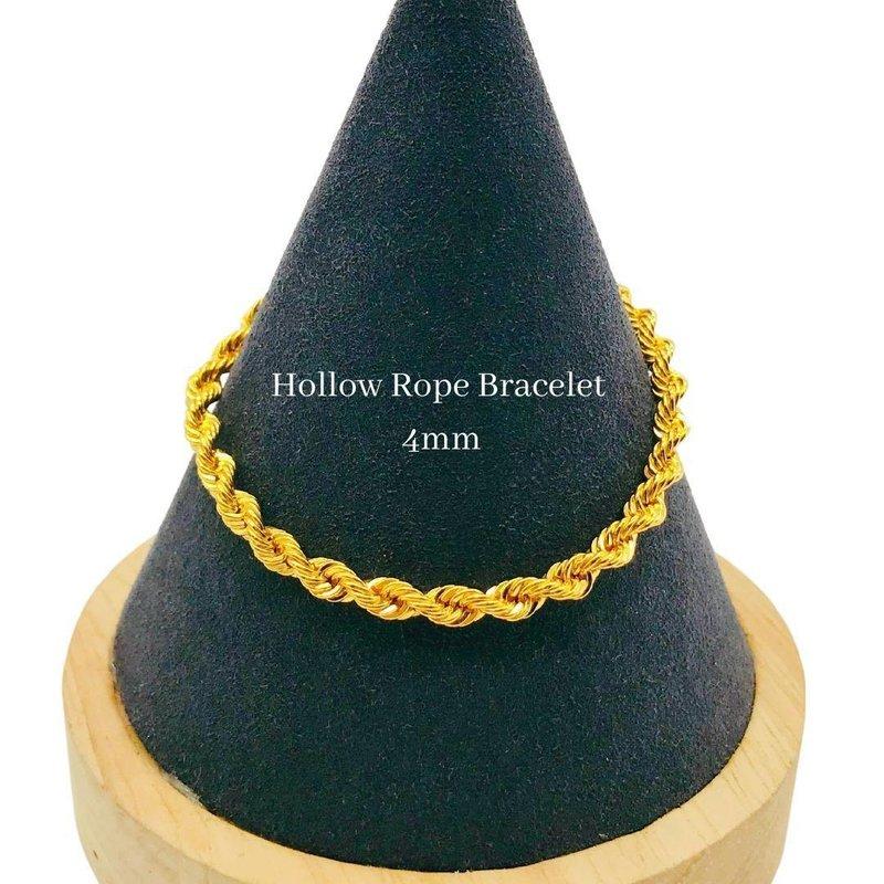 916 Gold Hollow Rope Bracelet (WIDTH 4mm)