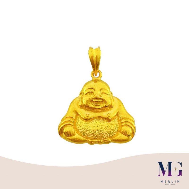916 Gold Laughing Buddha Pendant