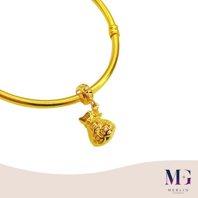 916 Gold Money Bag Charm / Pendant