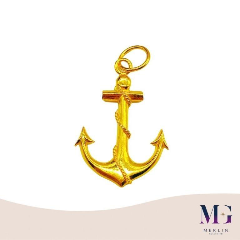916 Gold Anchor Pendant