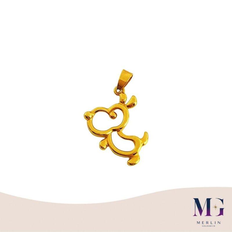 916 Gold High Polishing Puppy Pendant