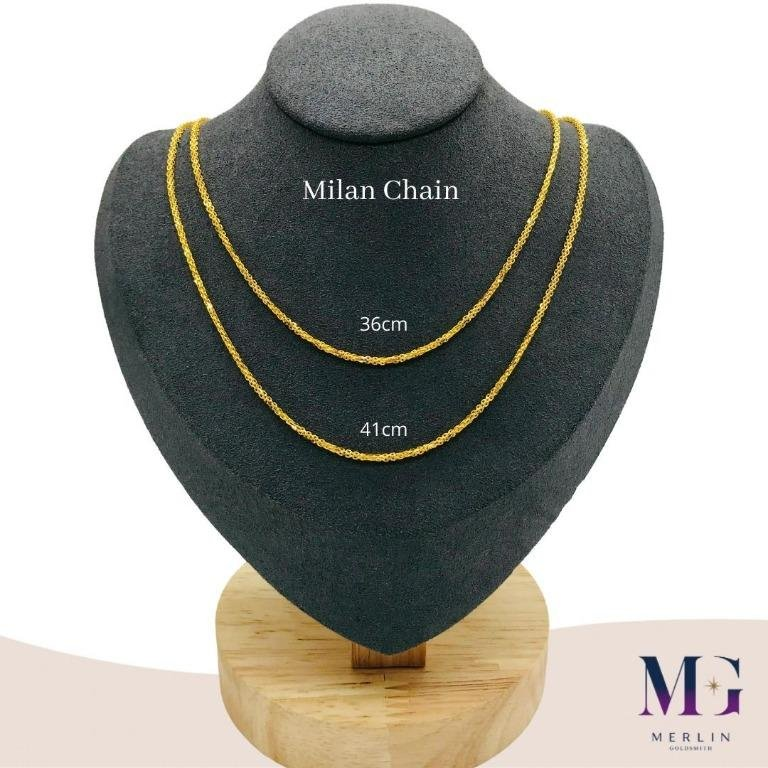 916 Gold Milan Chain (Suitable for Newborn - 8 Years Old)