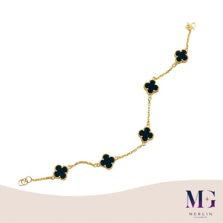 916 Gold CLOVER BRACELET | CLASSIC BLACK