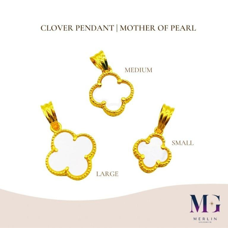 916 Gold Clover Pendant | Mother Of Pearl