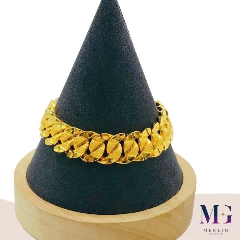 916 Gold 13mm Hollow Stamping Bracelet