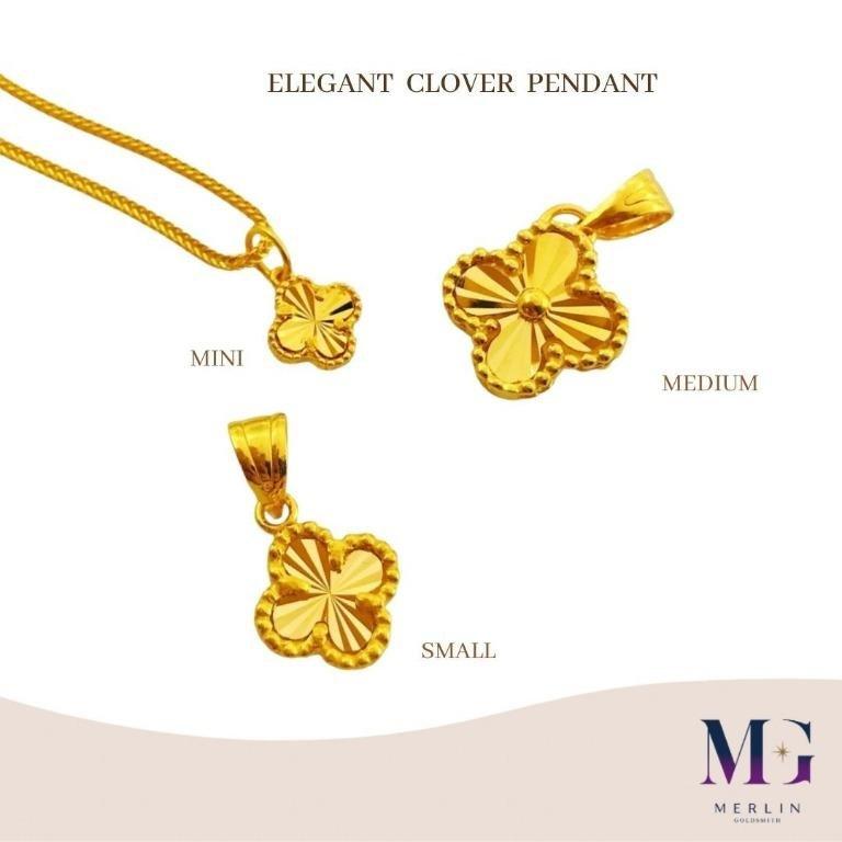 916 Gold Elegant Clover Pendant