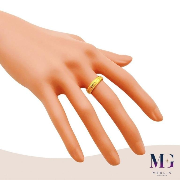 916 Gold 5mm Maple Hollow Ring