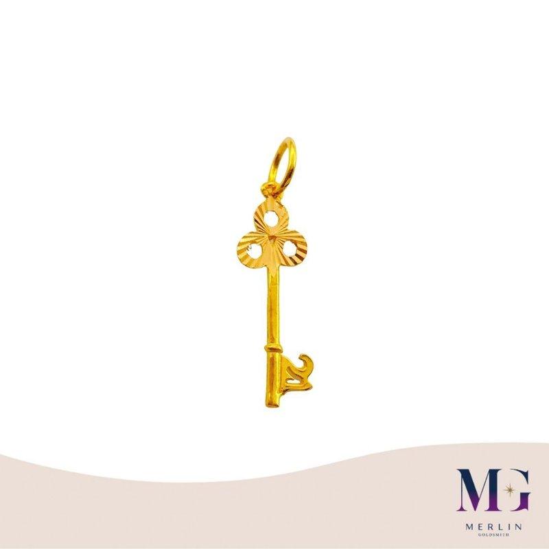 916 Gold 21st Key Pendant