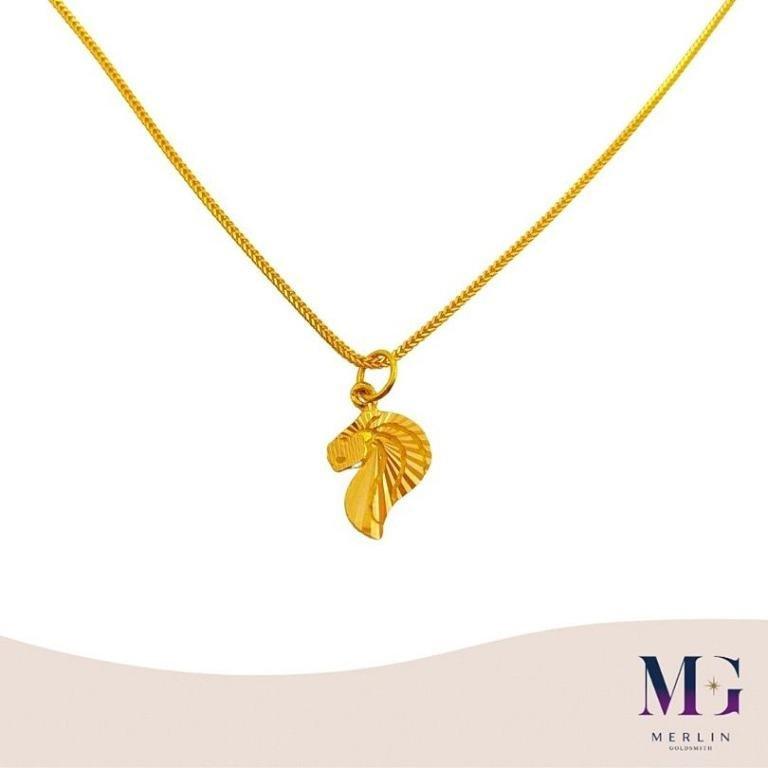 916 Gold Merlion Pendant