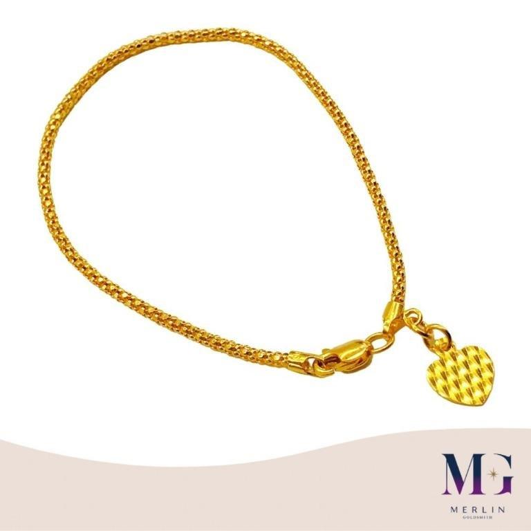 916 Gold Bamboo Bracelet (Width: 1.8mm)